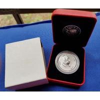 2004 FIFTY CENT-*YEAR OF THE MONKEY*- 1/2 OZ SILVER - PERTH MINT -  UNCIRCULATED image