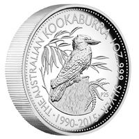 2015 Australian Kookaburra 25th Anniversary 1 oz Silver High Relief  Perth Mint  image