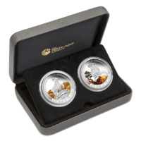 Lunar Good Fortune 2015 Year of the Goat 1oz Silver Proof Two-Coin Set image