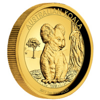 2017 Australian Koala 1oz Gold Proof High Relief Coin image