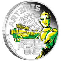 READY PLAYER ONE – ART3MIS 2018 1oz SILVER PROOF COINS image