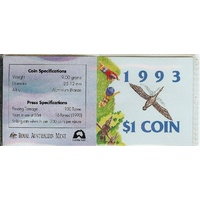 1993 Landcare Dollar Coin - Canberra Mint Mark Folder image