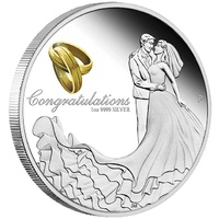 2019 Wedding 1 oz Silver Proof Perth Mint image