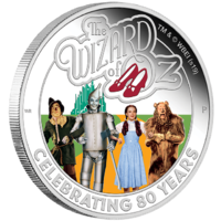 2019 The Wizard of Oz 80th Anniversary Silver Proof Perth Mint Presentation Case & COA image