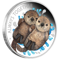 2020 Always Together Otter 1/2 oz Silver Proof Perth Mint Presentation Case & COA image