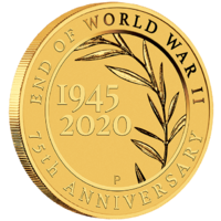 2020 End of World War II 75th Anniversary 0.5g Gold Perth Mint Coin in Card image