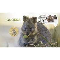 2021 Quokka Stamp and Coin Cover One Dollar $1 Perth Mint AusPost PNC image