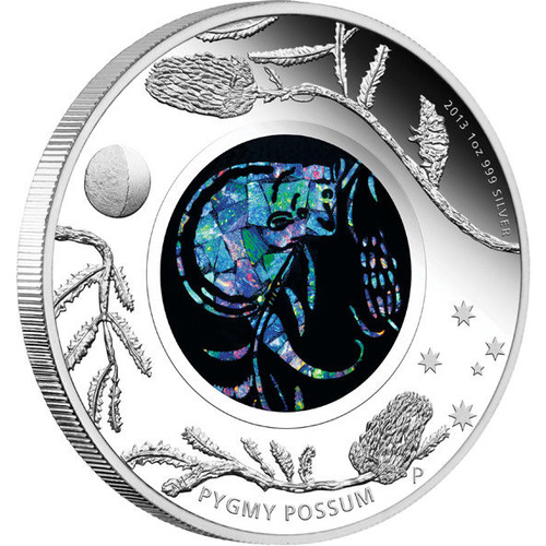 2013 Australian Opal Series: Pygmy Possum 1 oz Silver Proof Perth Mint Presentation Case COA