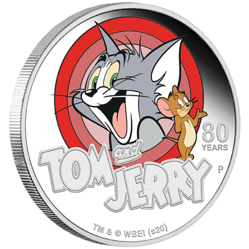 2020 Tom and Jerry 80 Years 1oz Silver Proof Perth Mint Presentation Case & COA